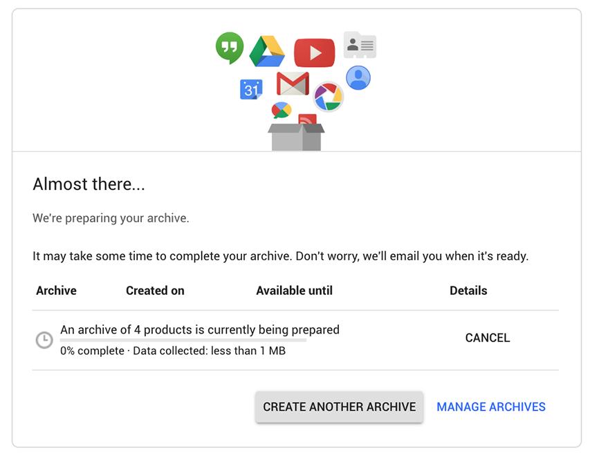 Google plus download data